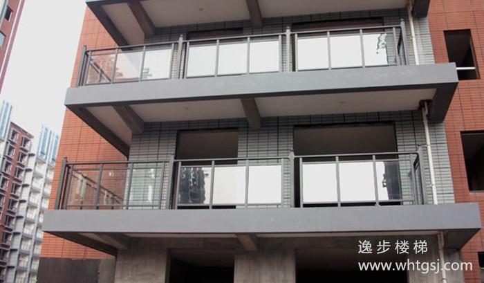 阳台玻璃铝合金栏杆 YB09 逸步楼梯